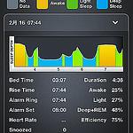 睡眠ログを記録するためにスマホアプリ「Sleep Time」を試してみたぞ!睡眠の質を知りたいからね