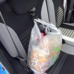 運転中に買い物袋の荷崩れを防ぐ「シートフック」を購入してみた