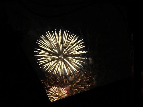 家から見える花火大会