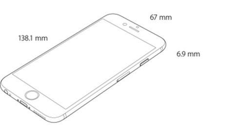 iPhone 6(寸法)
