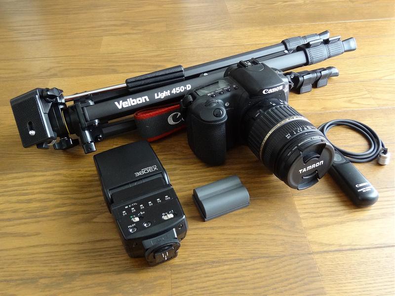 Canon EOS20Dとアクセサリー