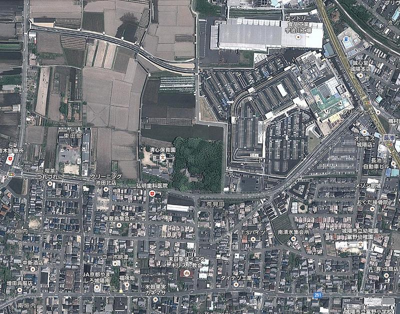 荒見神社周辺の航空写真(2014年)