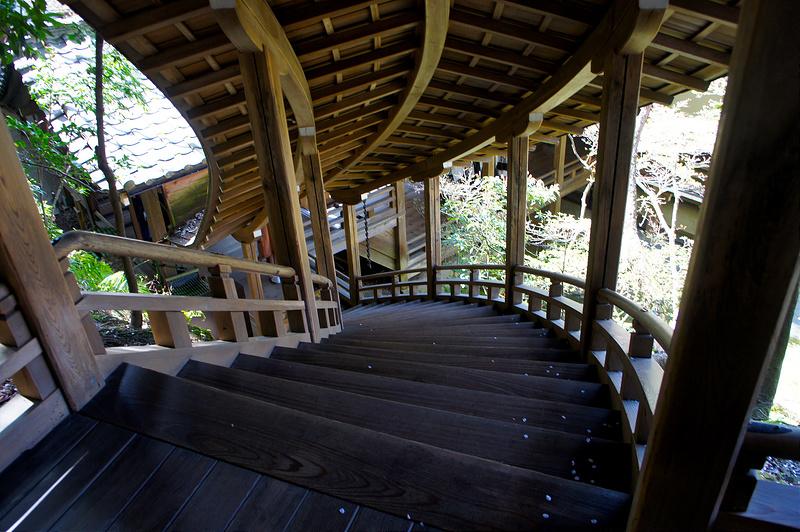 臥龍廊から見下ろした階段/永観堂 禅林寺(Eikando, Zenrin-ji Temple / Kyoto City) 2015/04/02
