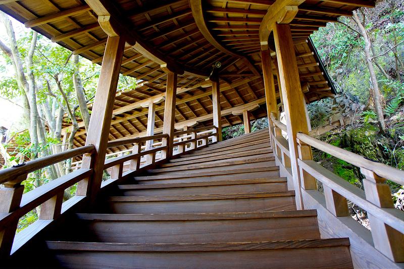 臥龍廊・開山堂へ向かう階段/永観堂 禅林寺(Eikando, Zenrin-ji Temple / Kyoto City) 2015/04/02