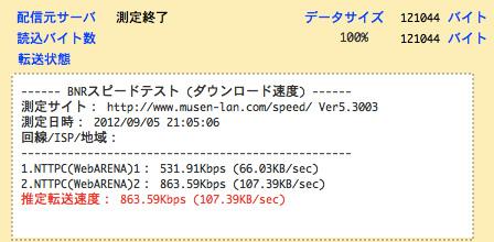 ドコモ 通信速度 下り 863.59Kbps