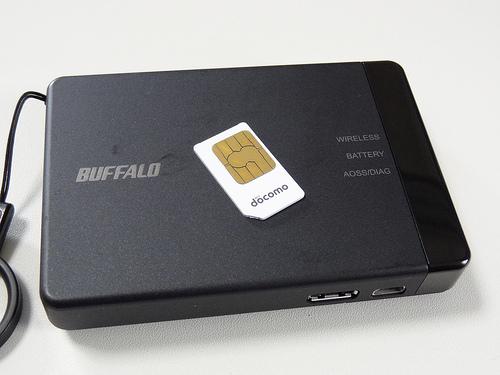BUFFALO DWR-PG & DoCoMo SIM