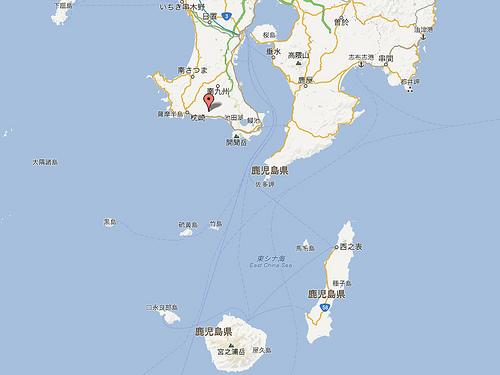 種子島と屋久島の位置