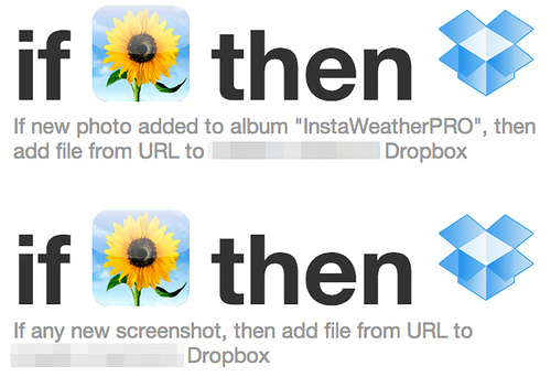 0 IFTTT カメラロール→Dropbox