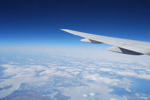 飛行機からの景色